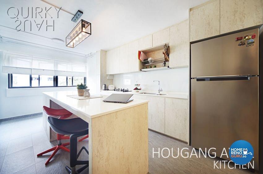 Scandinavian Design - Kitchen - HDB 3 Room - Design by Quirky Haus Pte Ltd