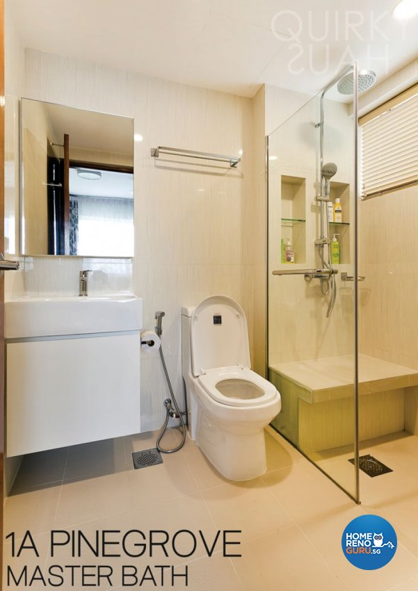 Modern, Vintage Design - Bathroom - Condominium - Design by Quirky Haus Pte Ltd