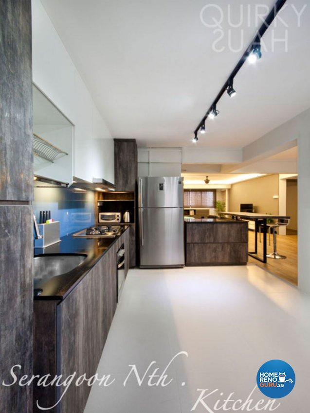 Minimalist Design - Kitchen - HDB 5 Room - Design by Quirky Haus Pte Ltd