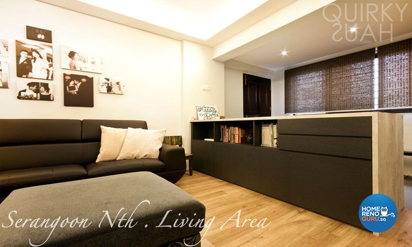 Minimalist Design - Living Room - HDB 5 Room - Design by Quirky Haus Pte Ltd