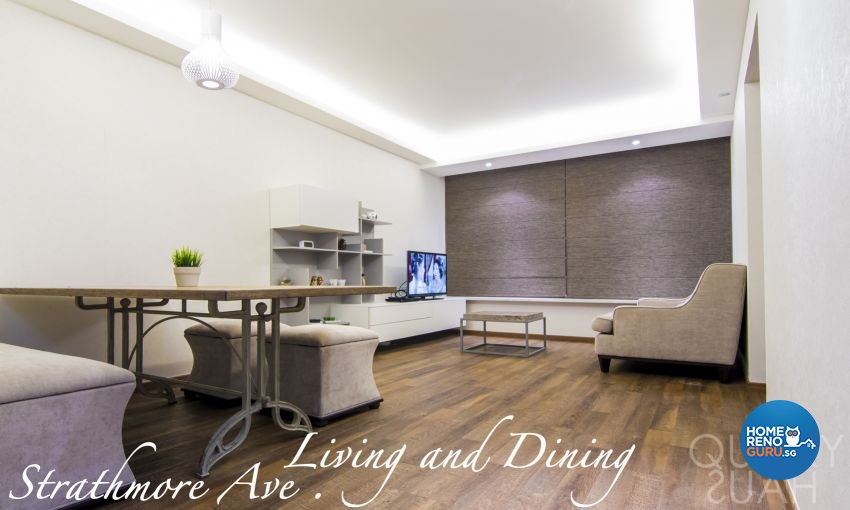 Minimalist, Modern Design - Living Room - HDB 4 Room - Design by Quirky Haus Pte Ltd