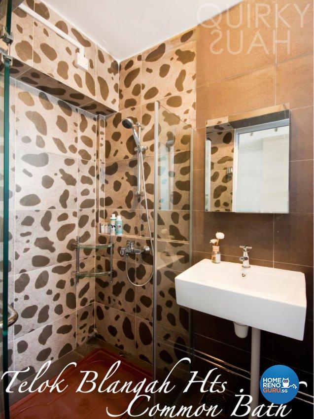 Contemporary, Modern Design - Bathroom - HDB 4 Room - Design by Quirky Haus Pte Ltd