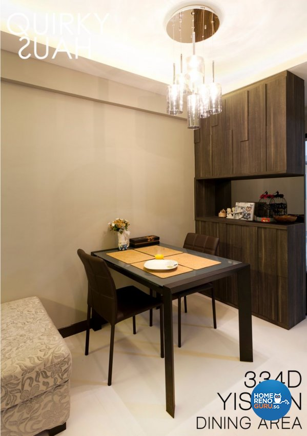 Minimalist, Modern Design - Dining Room - HDB 4 Room - Design by Quirky Haus Pte Ltd