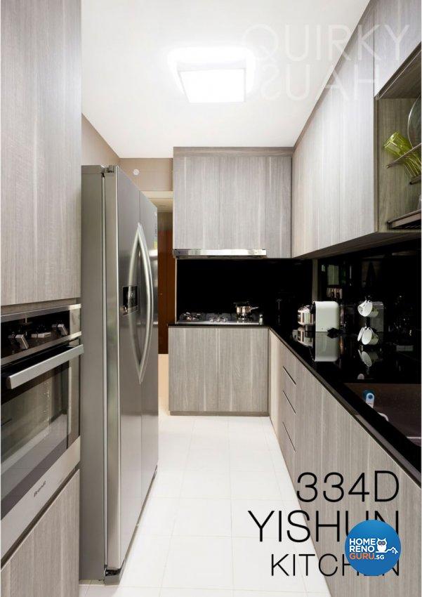 Minimalist, Modern Design - Kitchen - HDB 4 Room - Design by Quirky Haus Pte Ltd