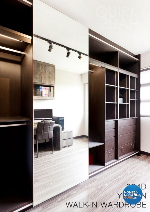 Minimalist, Modern Design - Study Room - HDB 4 Room - Design by Quirky Haus Pte Ltd