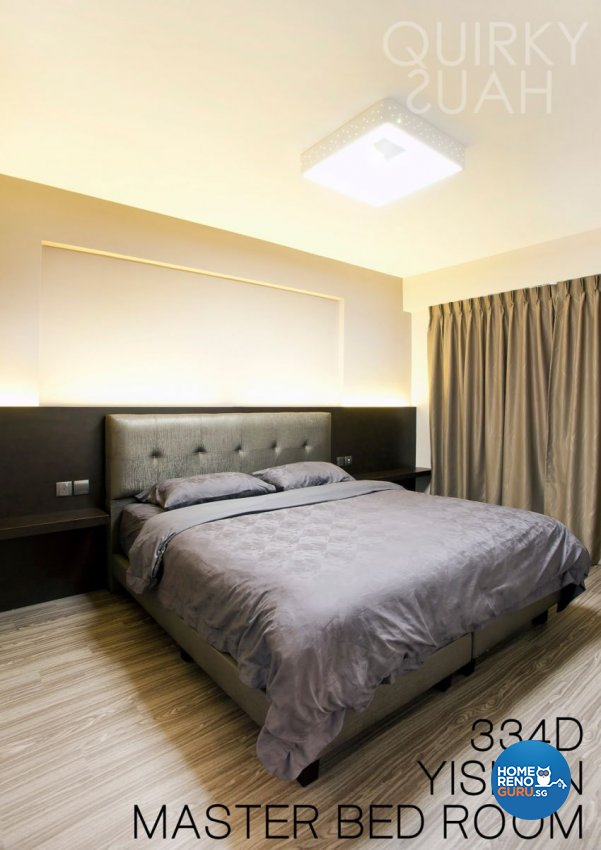 Minimalist, Modern Design - Bedroom - HDB 4 Room - Design by Quirky Haus Pte Ltd