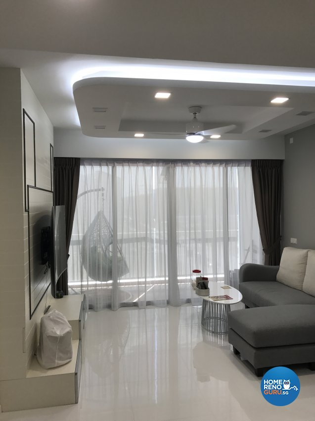 Contemporary Design - Living Room - Condominium - Design by R360 Degree Design Pte Ltd