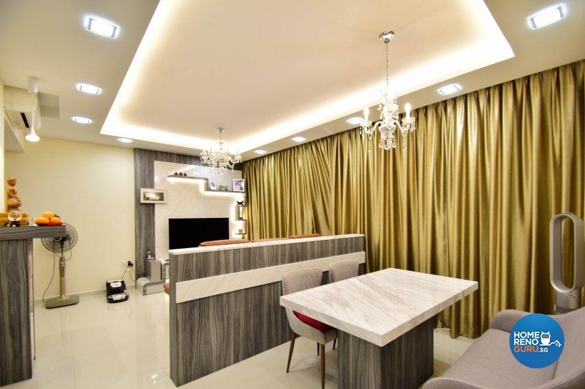 Contemporary Design - Living Room - Condominium - Design by R360 Degree Design Pte Ltd