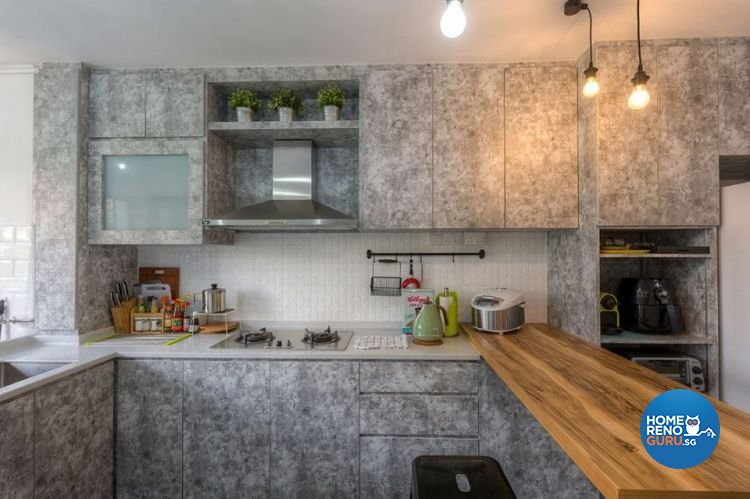 Industrial, Scandinavian Design - Kitchen - HDB 4 Room - Design by Renozone Interior Design House