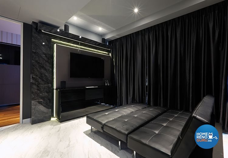 Contemporary, Modern Design - Entertainment Room - Condominium - Design by Renozone Interior Design House