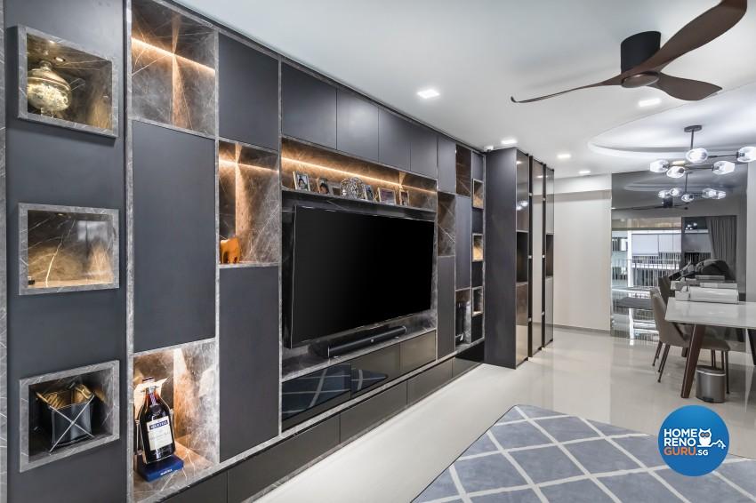 Contemporary, Modern Design - Living Room - Condominium - Design by Renozone Interior Design House