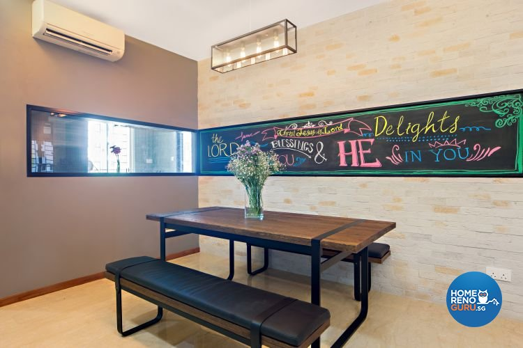 Industrial, Scandinavian Design - Dining Room - Condominium - Design by Renozone Interior Design House