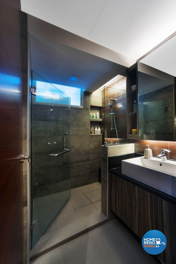Industrial, Scandinavian Design - Bathroom - Condominium - Design by Renozone Interior Design House