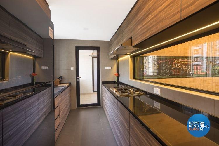 Industrial, Scandinavian Design - Kitchen - Condominium - Design by Renozone Interior Design House