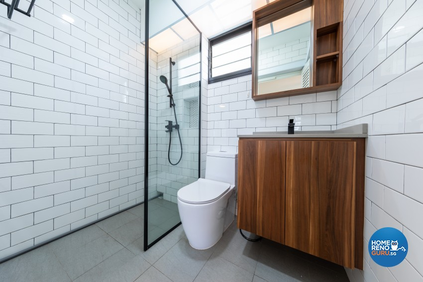 Modern, Scandinavian Design - Bathroom - HDB 4 Room - Design by Renozone Interior Design House