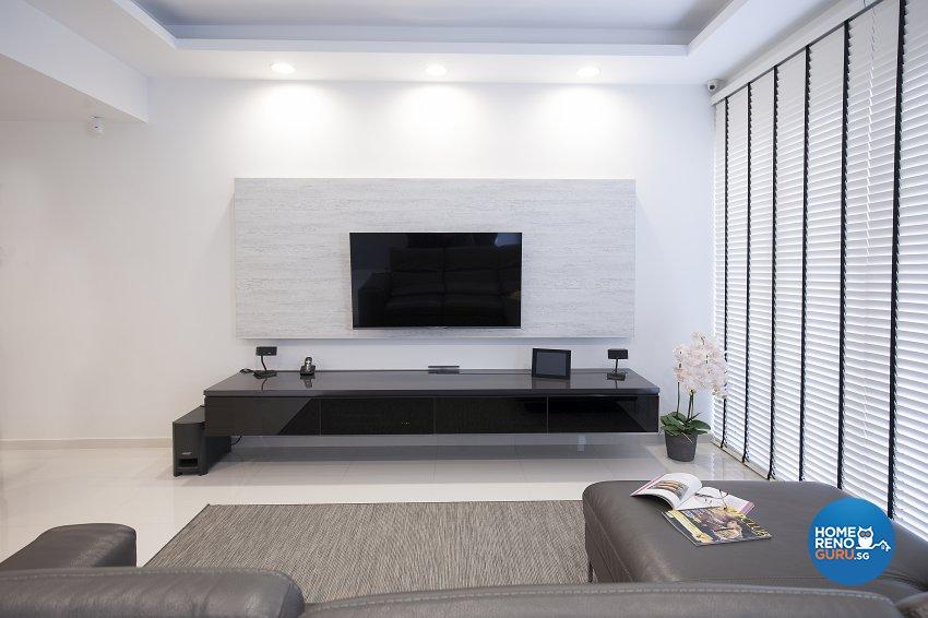 Classical, Minimalist, Modern Design - Living Room - Landed House - Design by Renozone Interior Design House