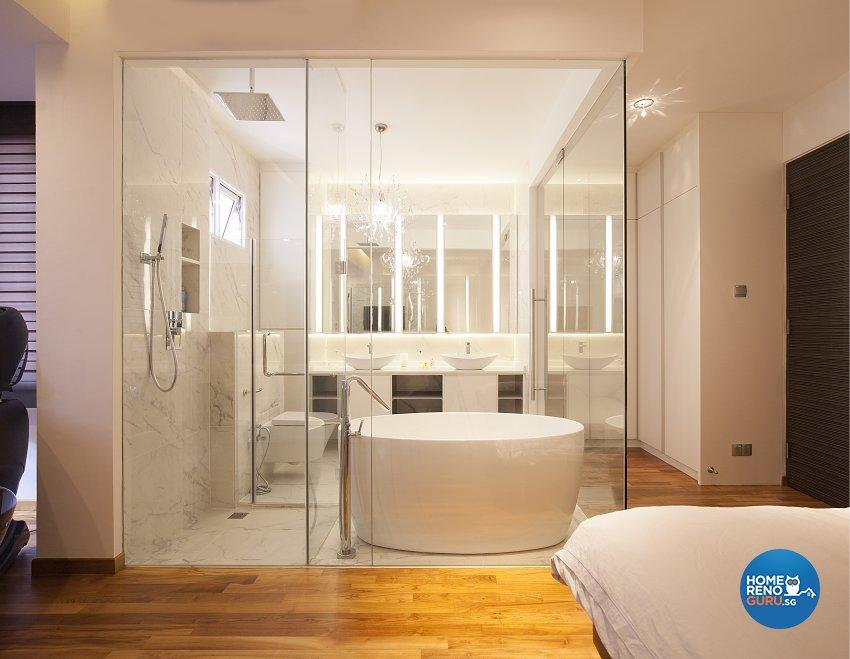 Classical, Minimalist, Modern Design - Bathroom - Landed House - Design by Renozone Interior Design House