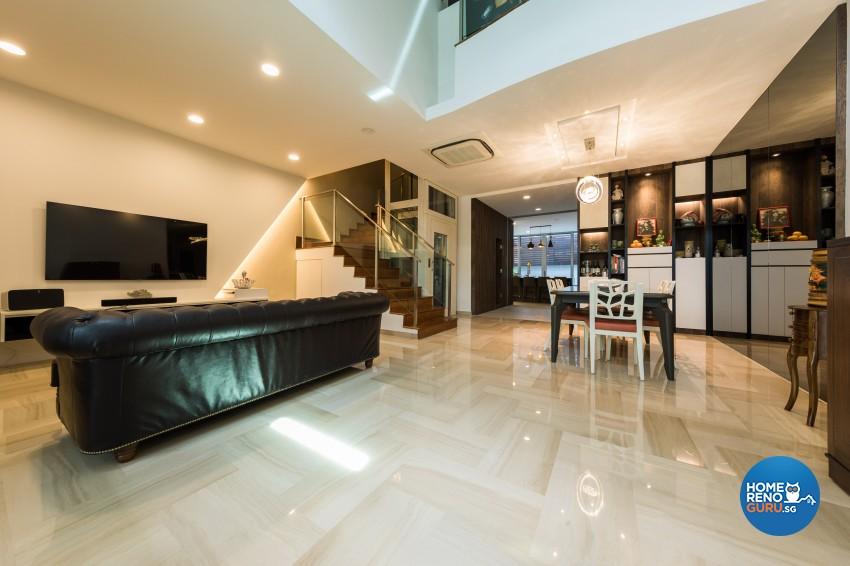 Modern Design - Living Room - Landed House - Design by Renozone Interior Design House