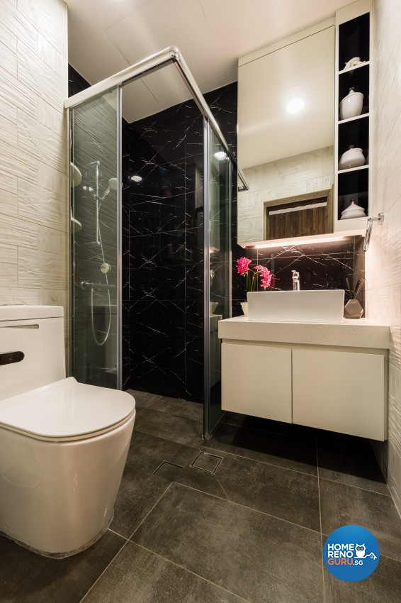Modern Design - Bathroom - Landed House - Design by Renozone Interior Design House