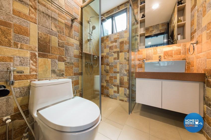 Modern Design - Bathroom - Landed House - Design by Renozone Interior Design House