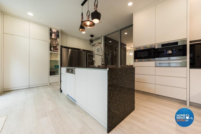 Modern Design - Kitchen - Landed House - Design by Renozone Interior Design House