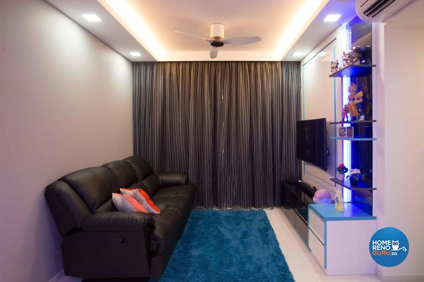 Modern Design - Living Room - Condominium - Design by Renozone Interior Design House