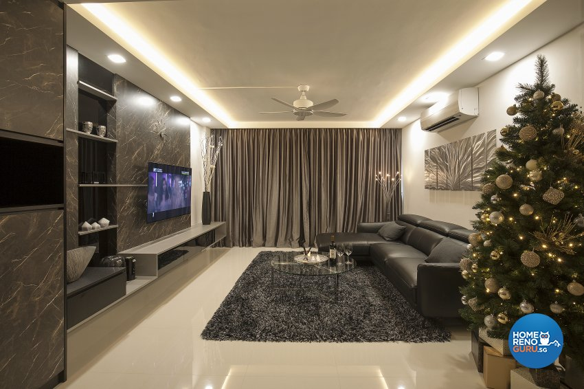Classical, Contemporary, Modern Design - Living Room - HDB 5 Room - Design by Renozone Interior Design House