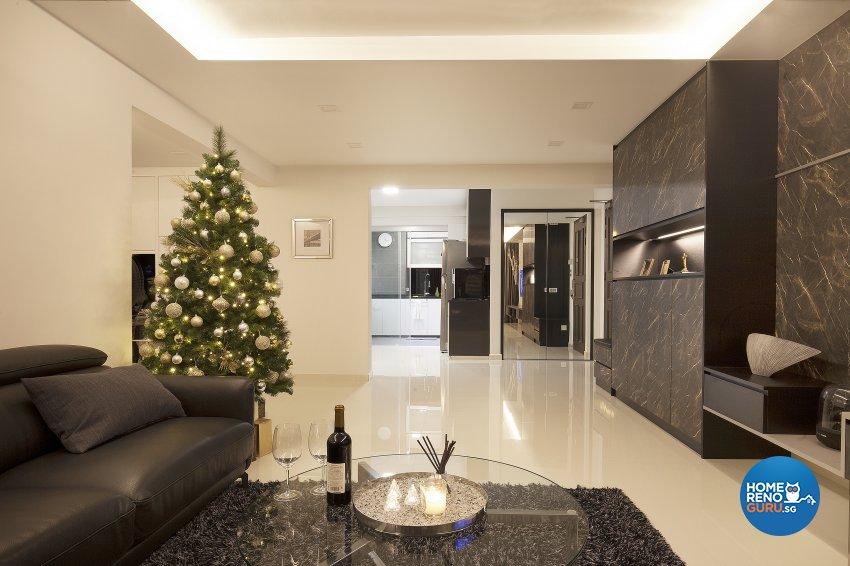 Classical, Contemporary, Modern Design - Living Room - HDB 5 Room - Design by Renozone Interior Design House