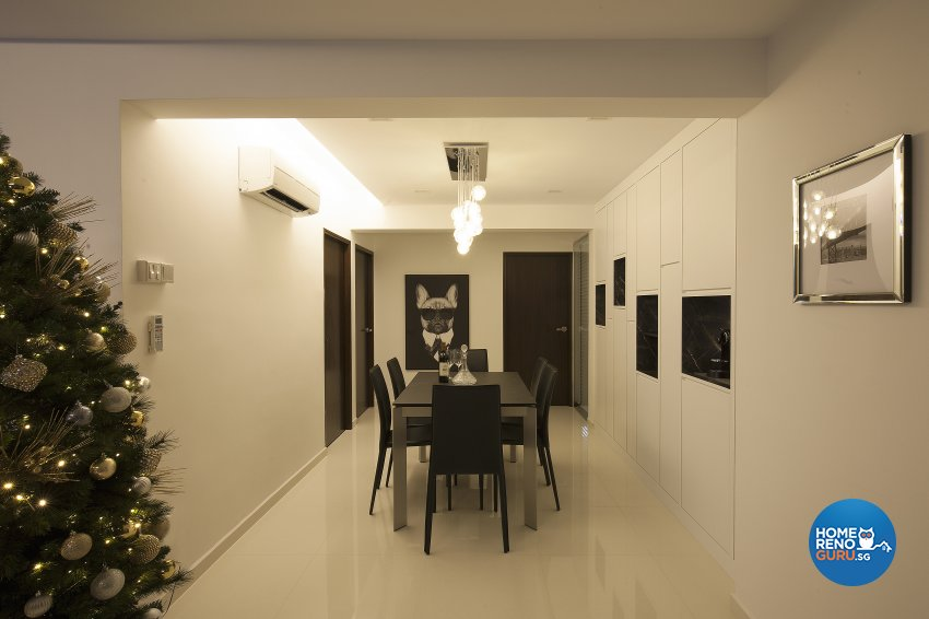 Classical, Contemporary, Modern Design - Dining Room - HDB 5 Room - Design by Renozone Interior Design House