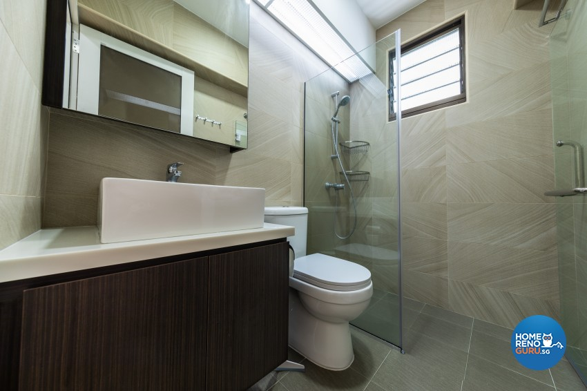 Modern Design - Bathroom - HDB 4 Room - Design by Renozone Interior Design House