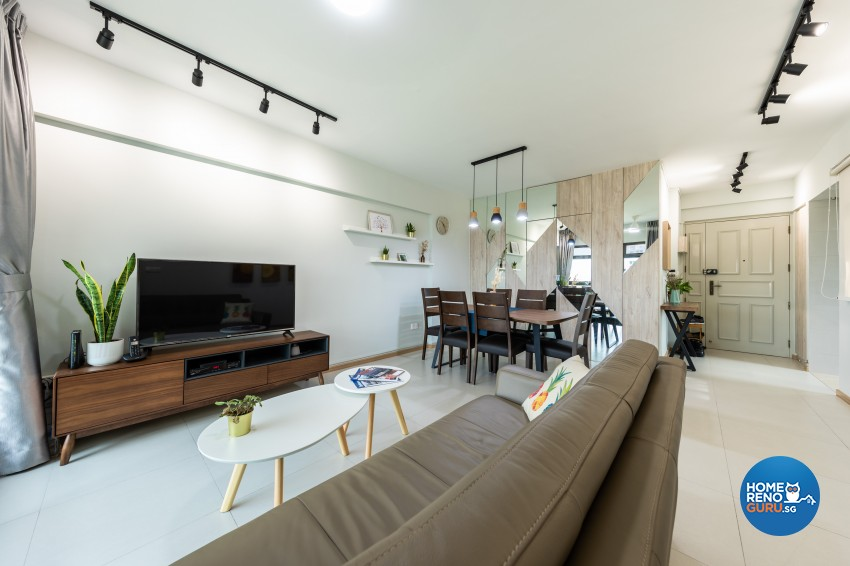 Modern Design - Living Room - HDB 4 Room - Design by Renozone Interior Design House