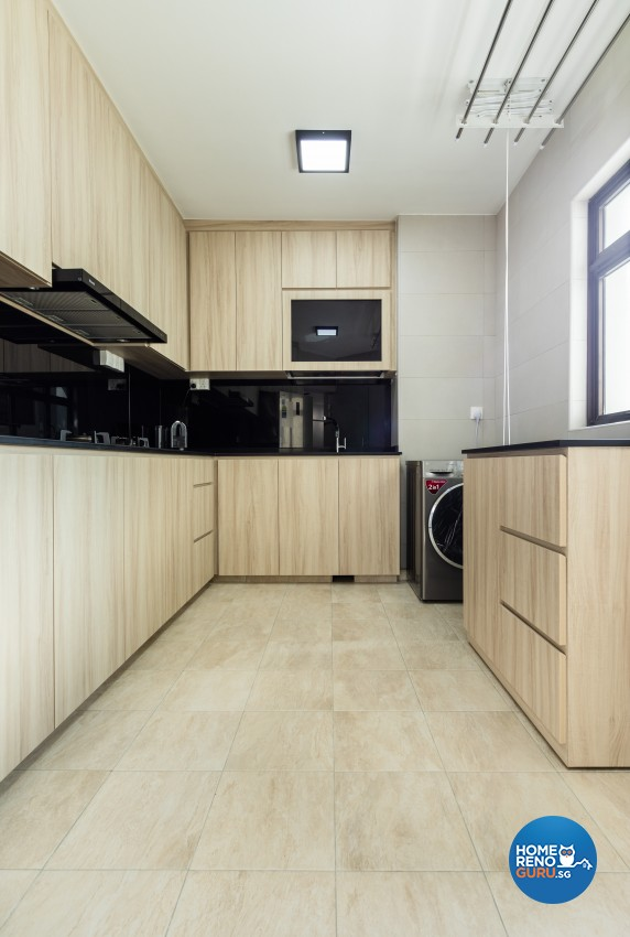 Modern Design - Kitchen - HDB 4 Room - Design by Renozone Interior Design House