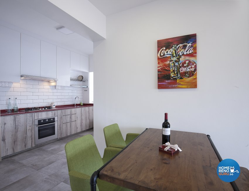 Scandinavian Design - Dining Room - HDB 4 Room - Design by Renozone Interior Design House