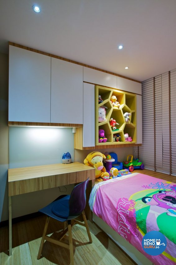 Modern, Tropical Design - Bedroom - HDB 3 Room - Design by Renozone Interior Design House