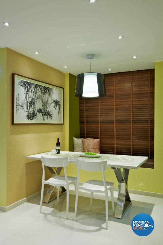 Modern, Tropical Design - Dining Room - HDB 3 Room - Design by Renozone Interior Design House