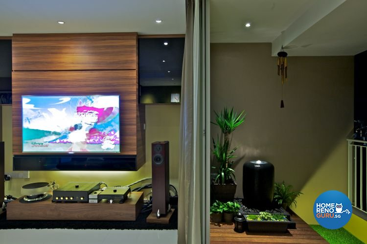 Modern, Tropical Design - Living Room - HDB 3 Room - Design by Renozone Interior Design House