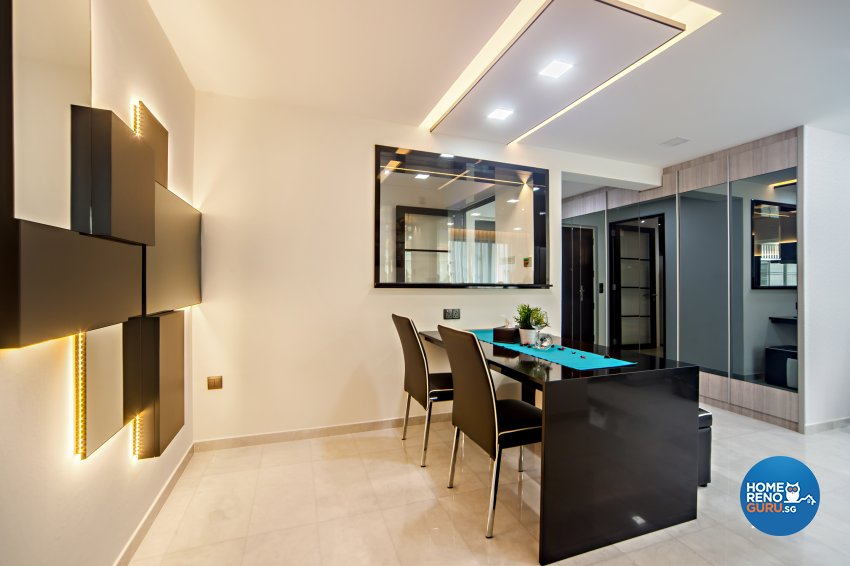 Classical, Contemporary, Modern Design - Dining Room - HDB 4 Room - Design by Renozone Interior Design House