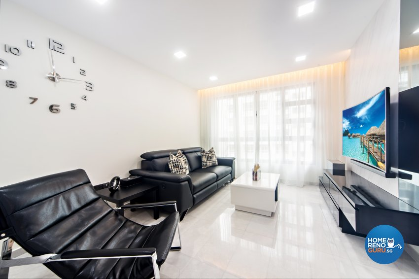 Classical, Contemporary, Modern Design - Living Room - HDB 4 Room - Design by Renozone Interior Design House
