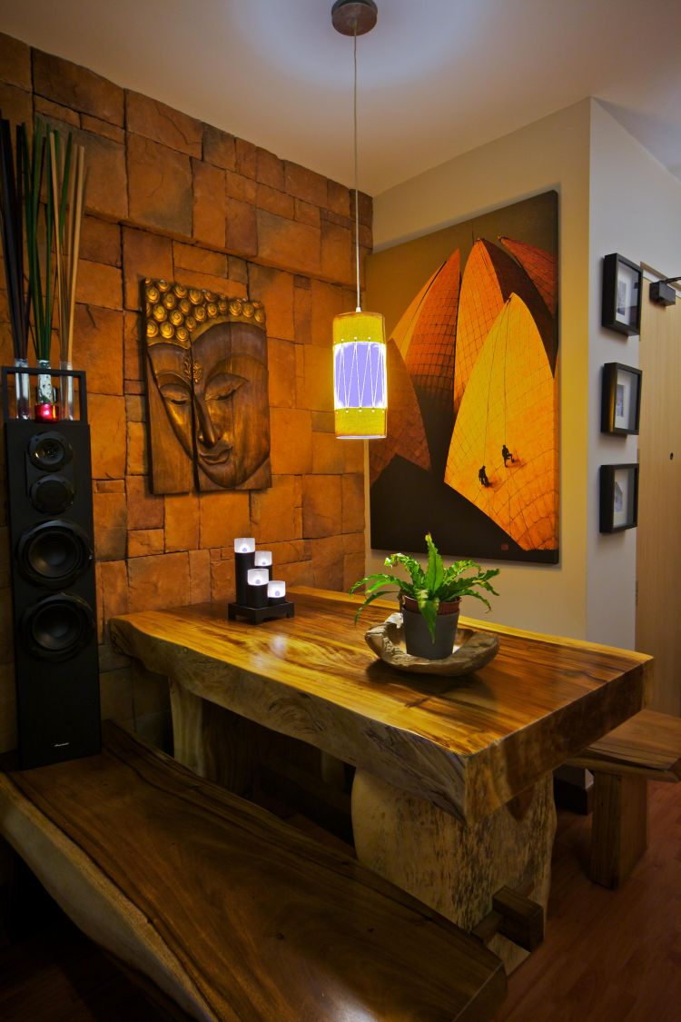 Country, Tropical Design - Dining Room - HDB 4 Room - Design by Renozone Interior Design House