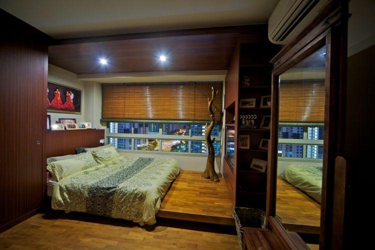 Country, Tropical Design - Bedroom - HDB 4 Room - Design by Renozone Interior Design House