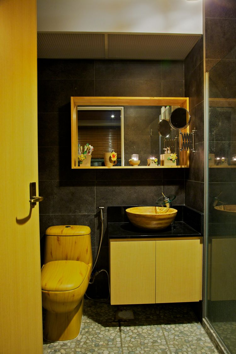 Country, Tropical Design - Bathroom - HDB 4 Room - Design by Renozone Interior Design House