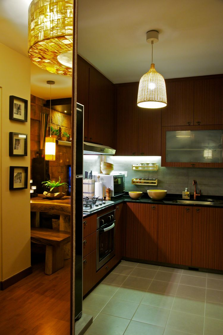 Country, Tropical Design - Kitchen - HDB 4 Room - Design by Renozone Interior Design House