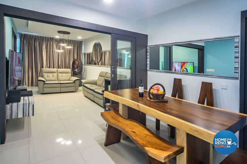 Contemporary, Modern, Scandinavian Design - Dining Room - HDB 3 Room - Design by Renozone Interior Design House