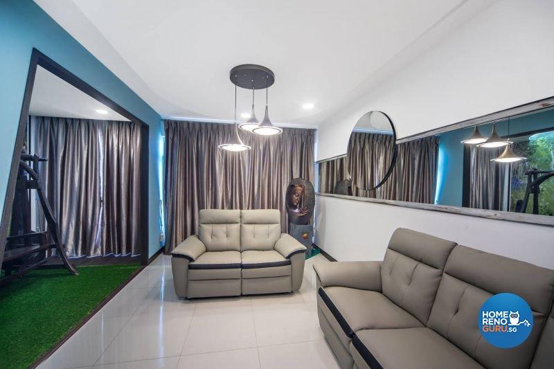 Contemporary, Modern, Scandinavian Design - Living Room - HDB 3 Room - Design by Renozone Interior Design House