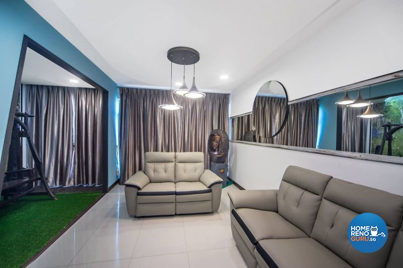Contemporary, Modern, Scandinavian Design - Living Room - HDB 3 Room - Design by Renozone Interior Design House