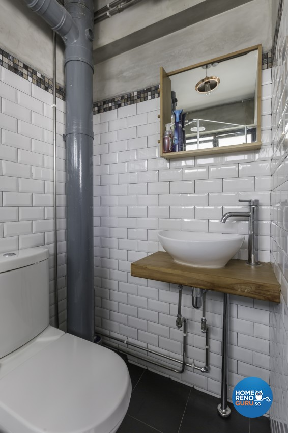 Scandinavian Design - Bathroom - HDB 4 Room - Design by Renozone Interior Design House