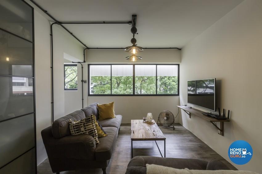 Scandinavian Design - Living Room - HDB 4 Room - Design by Renozone Interior Design House