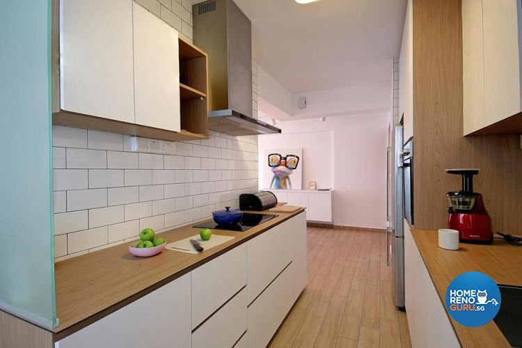 Country, Scandinavian Design - Kitchen - HDB 4 Room - Design by Renozone Interior Design House