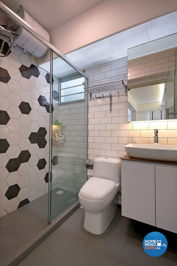 Country, Scandinavian Design - Bathroom - HDB 4 Room - Design by Renozone Interior Design House