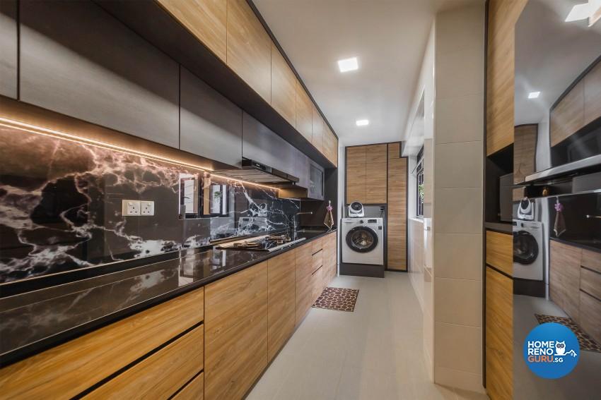 Industrial, Modern Design - Kitchen - HDB 3 Room - Design by Renozone Interior Design House
